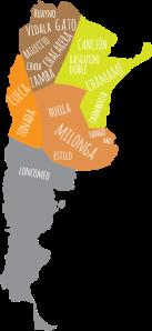 Mapa regiones de la Argentina